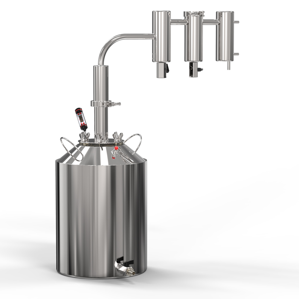 Moonshine Apparatus Hops славянки Two сухопарника Pro, Clamp Connection