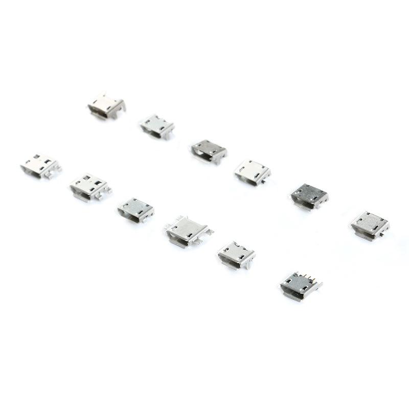 60 Pcs 1set Micro USB Connector 12 Models Socket Jack USB Connectors Set For MP3 Lenovo Huawei Samsung SMD DIP Socket Set Kit 8