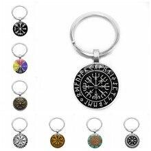 2019 jóias ornamento viking virgem logotipo vidro argola pingente chaveiro jóias presente