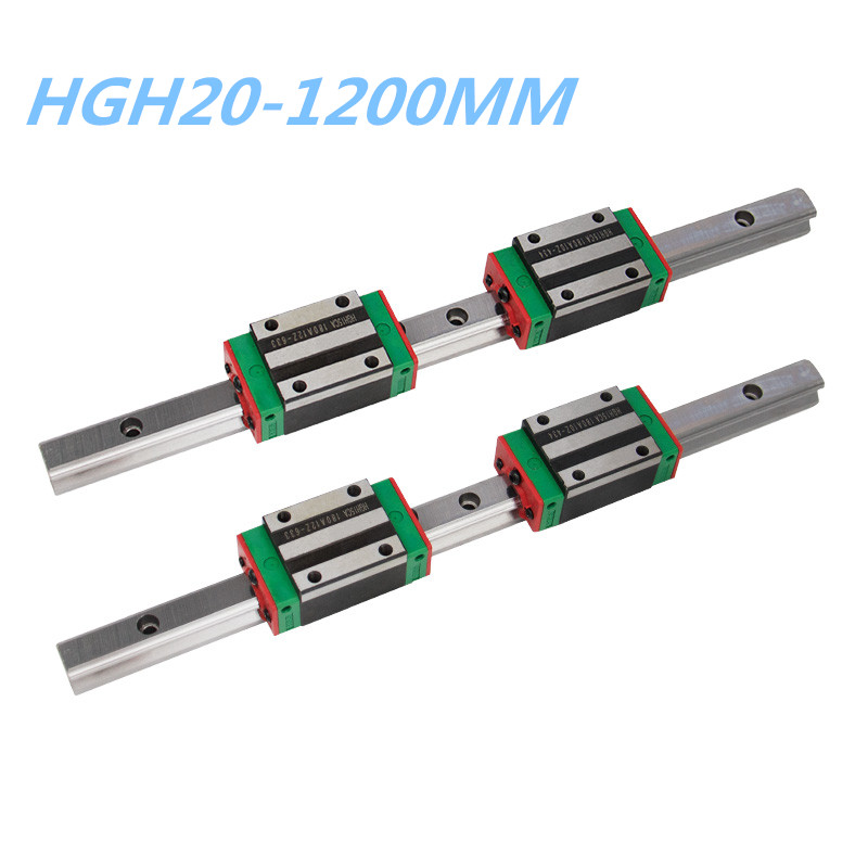 20mm Linear Guide Rail HGR20-1200mm 2pcs +4pcs HGH20CA/HGW20CC linear Slider