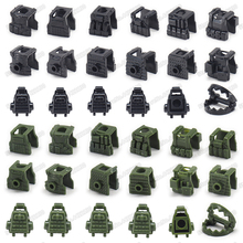 Legoinglys Building Blocks Figures Mini Equipment Backpack Body Armor Set Military ww2 Army Special Police Soldier Christmas Toy