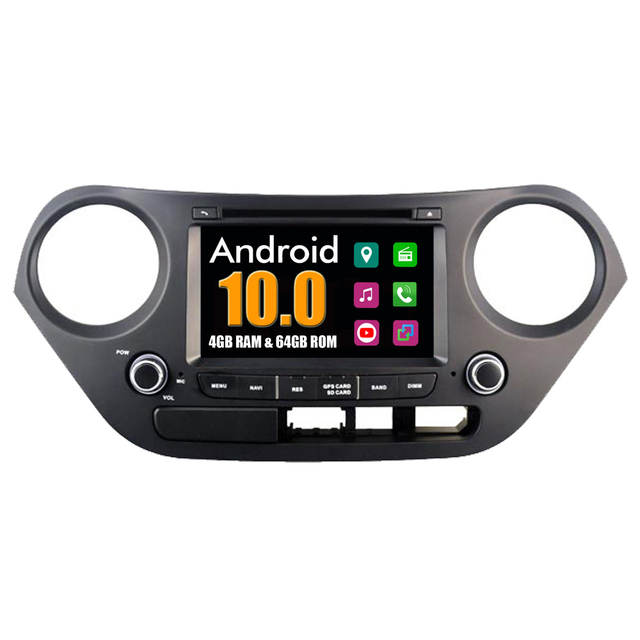 4G RAM + 64G ROM Car Multimedia Player For Hyundai i10 2013 2014 2015 2016 Android 10 Radio Stereo DVD GPS Navigation Bluetooth