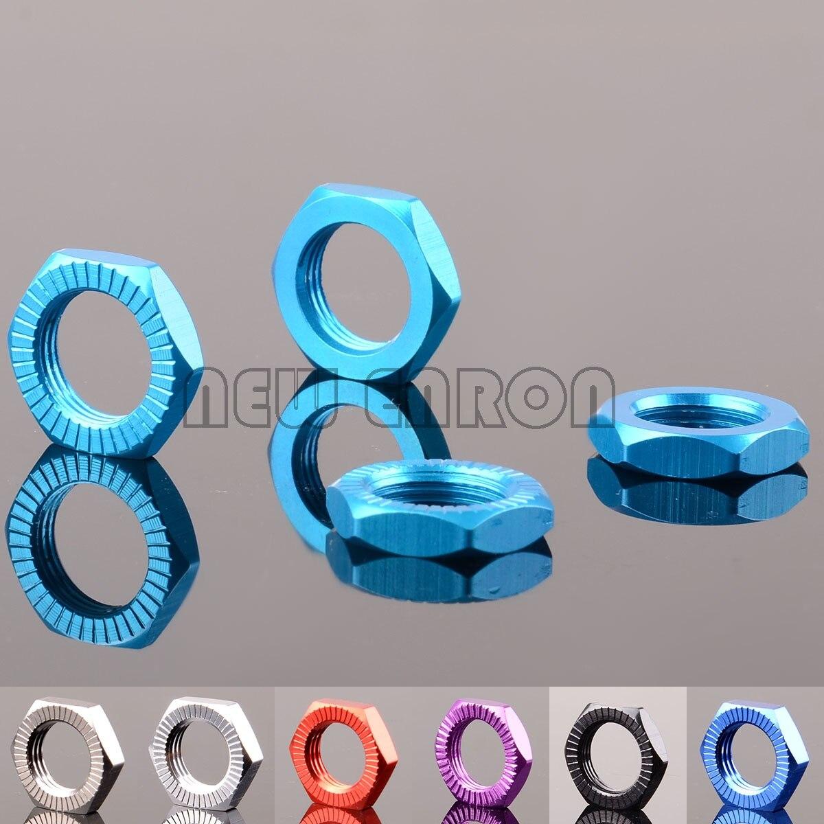 NEW ENRON 4PCS Aluminium 17mm Wheel Hex Nuts Mount #7758 For RC 1/5 Traxxas X-MAXX 77086-4