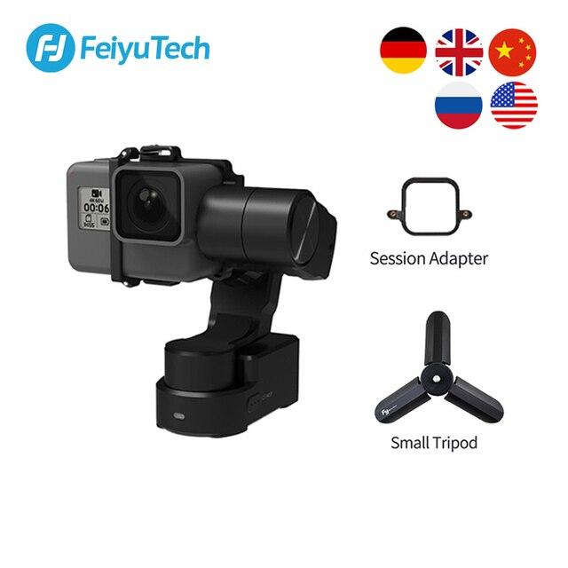 Trípode de cardán portátil FeiyuTech Feiyu WG2X, estabilizador de 3 ejes para GoPro Hero 8 7 6 5 4 Sony RX0 YI 4K, cámara de acción a prueba de salpicaduras