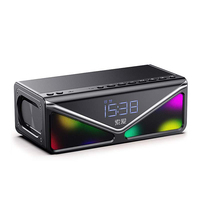 Wireless Portable Bluetooth Speaker LED real long play time 9 hours 25W High Quality outdoor Speaker with Bass TF/FM/USB