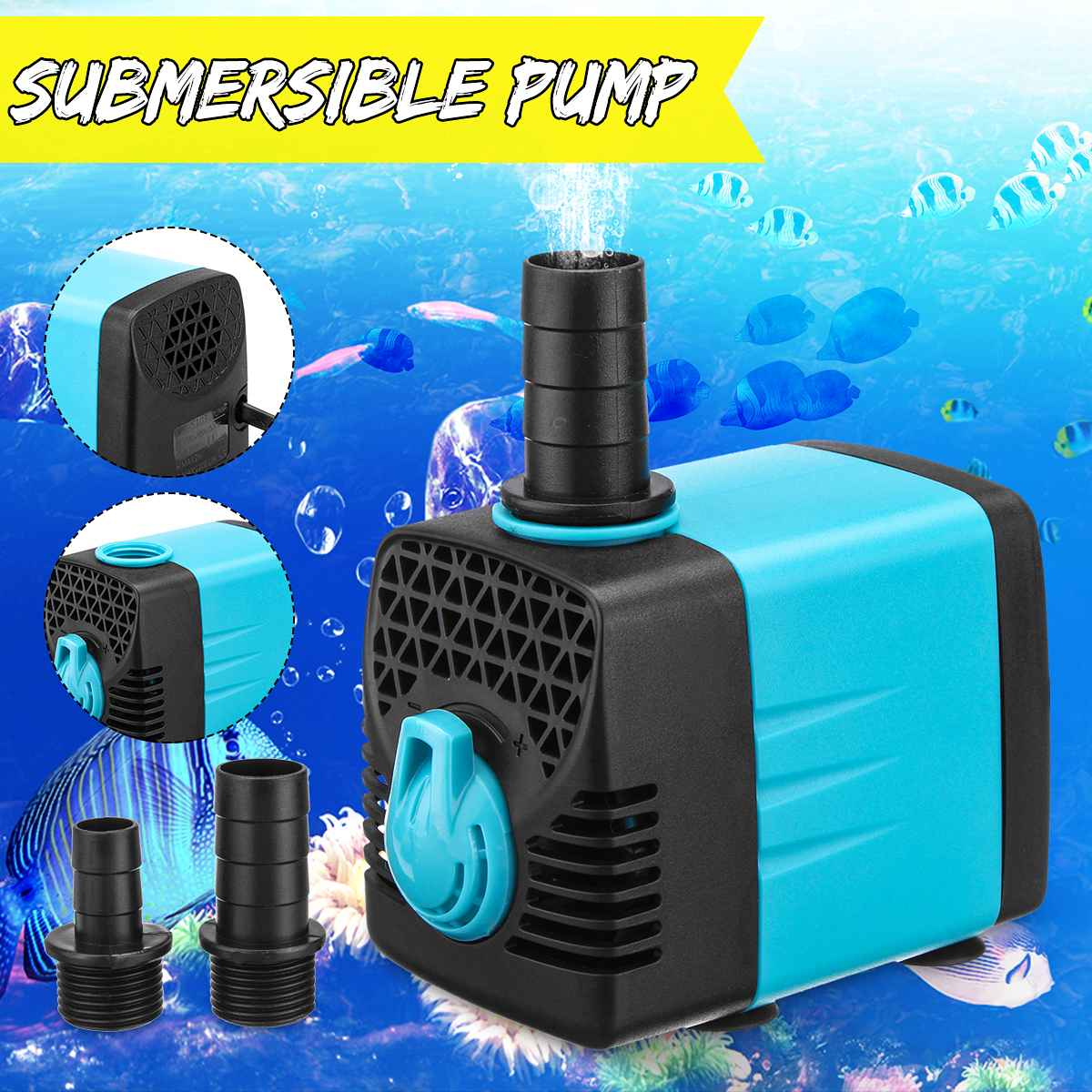10/15/25/40/55W <font><b>110V</b></font> Aquarium <font><b>Water</b></font> <font><b>Pump</b></font> Pet Craft <font><b>Pumps</b></font> Ultra-quiet Micro Submersible Fish Tank Pond Fountains Pool <font><b>Pump</b></font> image