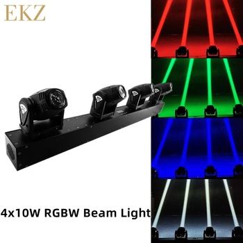 4x10W głowica LED wiązka ruchoma głowica pasek oświetleniowy światła dj-skie oświetlenie sceniczne Mini 10W RGBW 4w1 efekt wiązki lira na dyskotekę impreza z dj-em KTV tanie i dobre opinie Rohs CN (pochodzenie) Efekt oświetlenia scenicznego Oświetlenie sceniczne DMX 40 w ZKE RGBW LED-36L 90-240 V Profesjonalne stage dj
