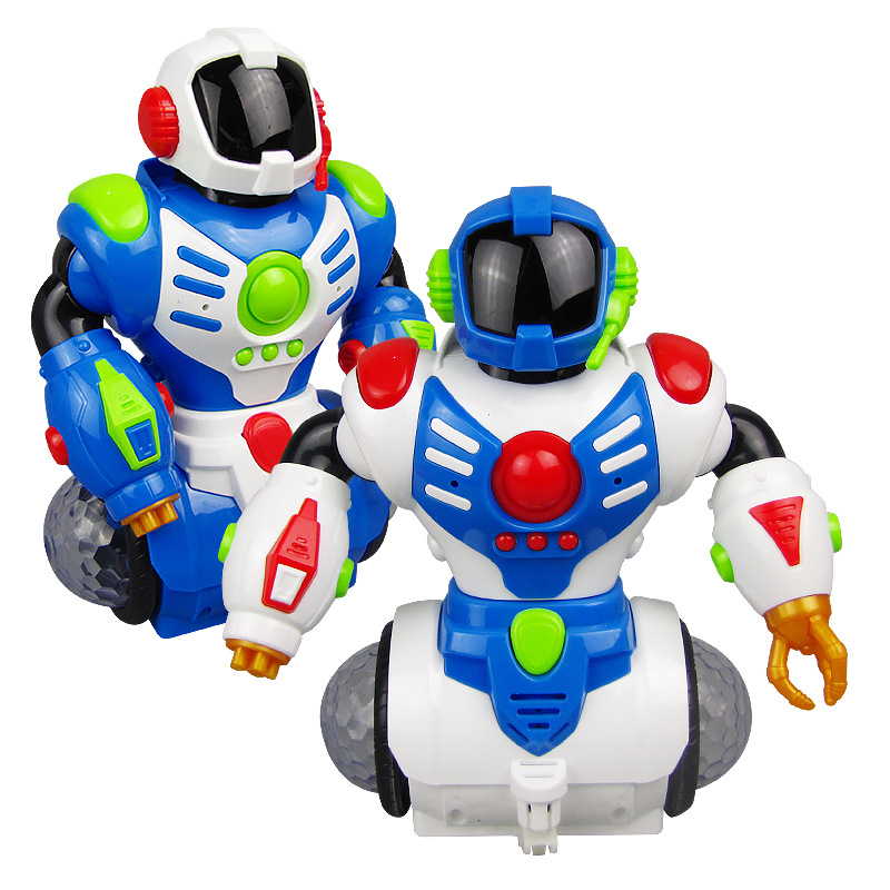 Electric Dancing Robot Lights Rotating Music Universal Electric Toys Dancer Robot Stall Hot Selling