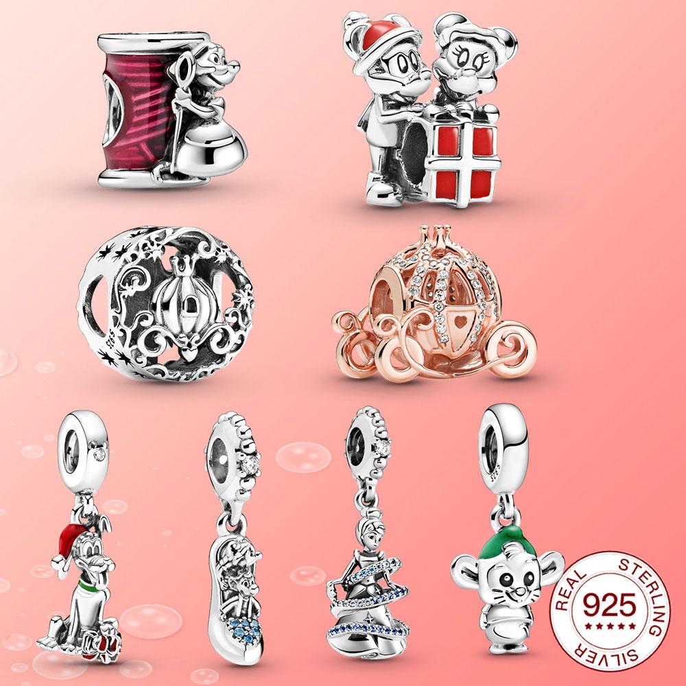 Новинка 2020 года, очаровательные украшения из стерлингового серебра в виде тыквы Золушки, подходящие для женских сковородок, рождественский...