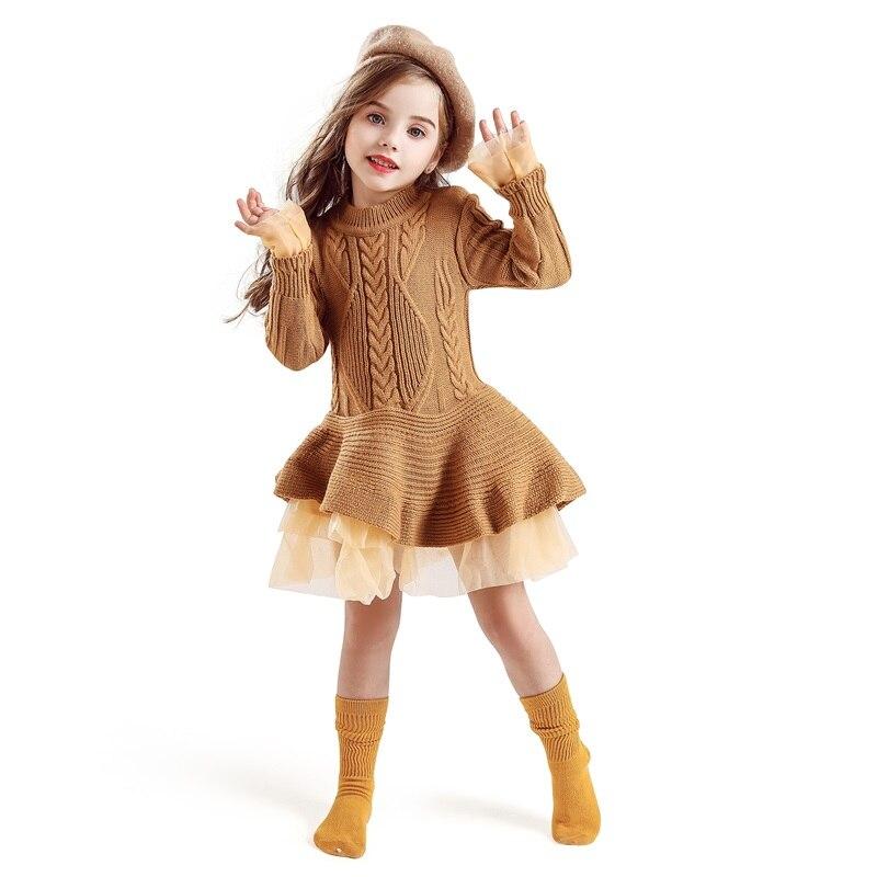 Xmas Winter Autumn Girl Dress Children Clothes Kids Dresses For Girls Party Dress Long Sleeve Knitted Xmas Winter Autumn Girl Dress Children Clothes Kids Dresses For Girls Party Dress Long Sleeve Knitted Sweater Toddler Girl Dress