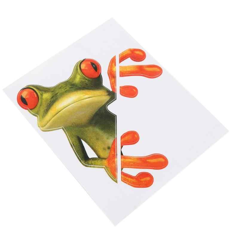 Universal Lucu 3D Kartun Warna-warni Katak Stiker Mobil Decal Vinyl Cover Tubuh Tergores Mobil Styling Aksesoris Motor