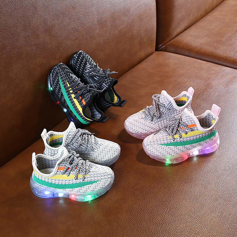 Luminous Shoes Children Kids Baby Girls Boys Sport Run Sneakers Shoes Infant Toddler  Sneakers LED Light Up New 2020 Fashion
