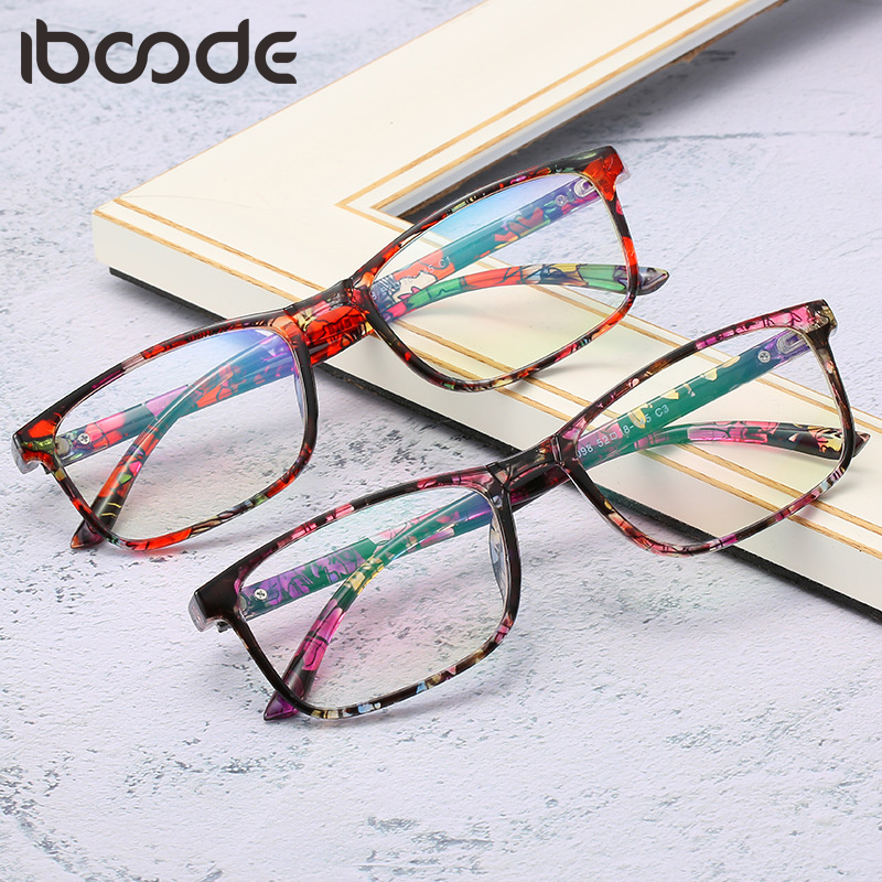 Iboode Vintage Square Frame Glasses Frames Women Men Oversized Transparent Eyeglasses Frames Myopia Glasses Male Female Eyewear