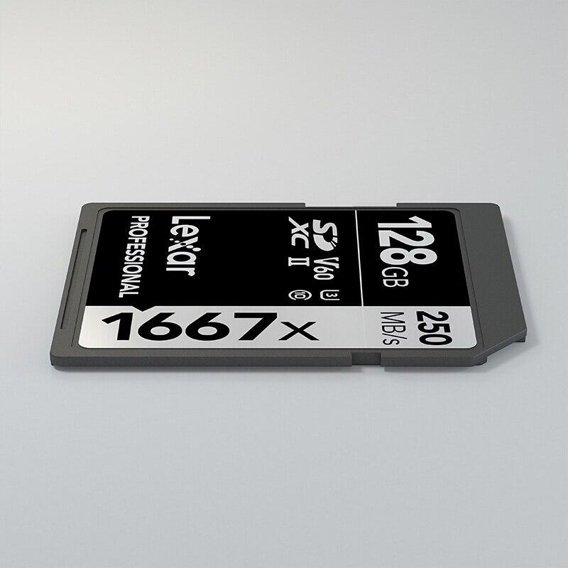Image 5 - Original Lexar Flash Memory carte sd card 128gb cartao de memoria 128 gb V60 UHS II U3 free shiping For  camera 3D 4K HD video-in Memory Cards from Computer & Office