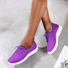 Summer Women Breathable Sneakers Outdoor Running Shoes Mesh Canvas Shoes Light Bottom Casual Shoes(China)