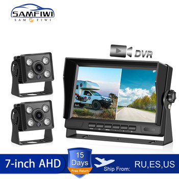 1 channel car dvr kit including dvr and ir car camera 5 meters video cable suit for taxi and bus used 7 inch Car Monitor AHD Car Screen Recording DVR With IR Night Vision Backup Camera Vehicle Rear View Camera For TRUCK RV BUS