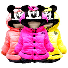 2017 New Cartoon Baby Boys Jacket Kids Winter Keeping Warm Cotton Hoodies Coat Children Casual Outerwear Clothing High-qualit new baby girls minnie jacket kids cotton keeping warm winter coat chirdren character lovely hoodies outerwear and girl s vest