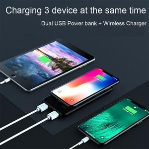 Image 5 - Wireless Accumulatori e caricabatterie di riserva per Xiao mi mi 10000 mAh Qi Fast Charger 10000 mAh Powerbank batteria Esterna Per Il iPhone X Xs MAX Samsung