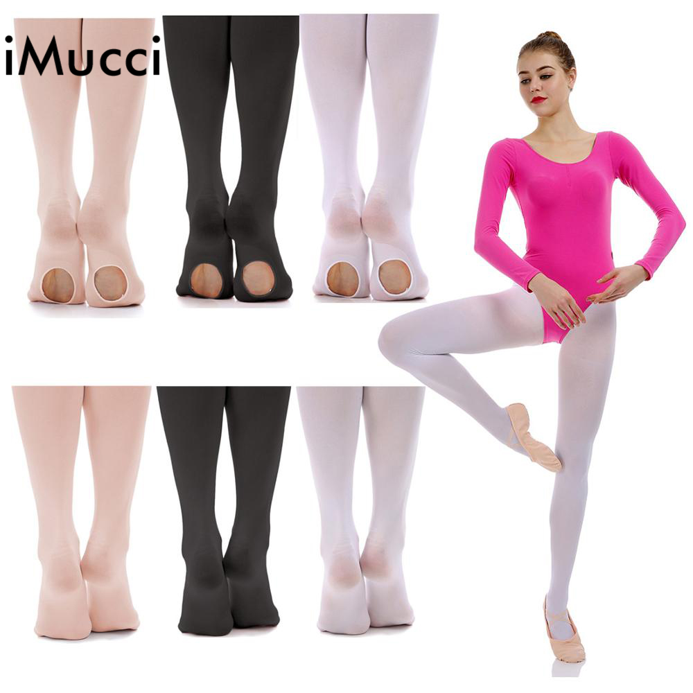 IMucci Women Ballet Convertible Tights Girl Pink Velvet Leggings Adult Pantyhose Dance Tights White Legging Gymnastics Collant