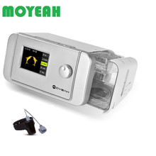 MOYEAH APAP Machine with Wifi and Sleep Aid Watch Anti Snoring Auto CPAP Medical Equipment with Mask Hose Filters Sleep Apnea moyeah portable travel apap ventilator mini auto cpap machine medical device with heated humidifier sleep mask hose anti snoring