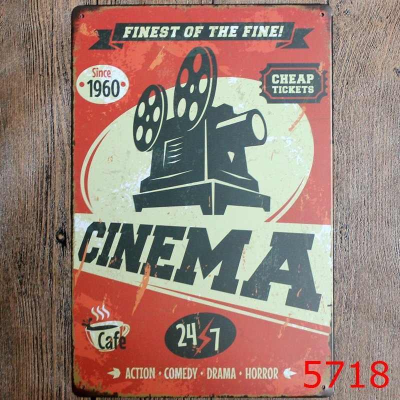 FINEST OF THE FINE CINEMA   LARGE METAL TIN SIGN POSTER  RETRO   PLAQUE VINTAGE