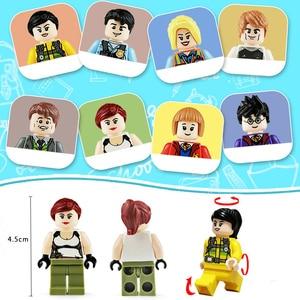 Image 4 - 120pcs Mini Action Figures Ninja Soldier Building Blocks For Kids Gifts Ninjago Police Models Bricks Toys For Children Boys Gift