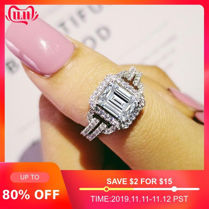 Moonso 925 anel de prata esterlina dedo anel anel anel aneis cz pedra para jóias femininas noivado casamento puro personalizado lr2101s