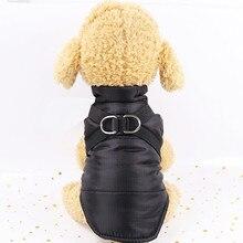 Зимнего теплого сна питомца в собачья жилетка, одежда сплошной цвет Куртка из искусственной кожи PU куртки для маленьких собак Щенок Кот плащ Одежда Размер XS-XXL