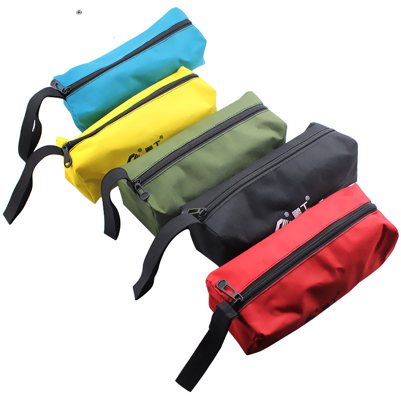 1pc Electrical Oxford Canvas Tool Handbag Waterproof High Capacity Small Storage Bags Portable Repair Zipper Multif Storage Case