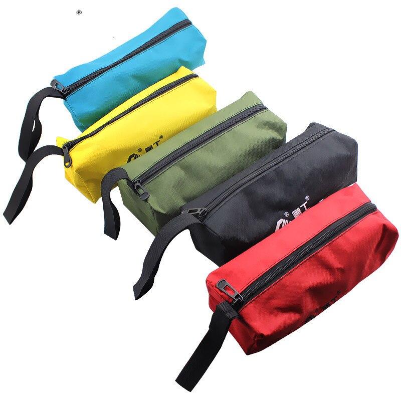 1pc Electrical Oxford Canvas Tool Handbag Waterproof High Capacity Small Storage Bags Portable Repair Zipper Multif Storage Case