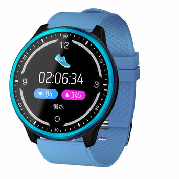 P69 Round Screen Smart Watch Men Blood Pressure Heart Rate Monitor Sports Tracker IP68 Waterproof Smartwatch for Running Cycling