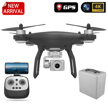 1KM 30 Minutes RC Quadcopter Gimbal Stabilizer Brushless Motor Drone With 4K HD Adjustment Camera WIFI FPV FOLLOW ME GPS Drone 3pcs iflight gbm4108h 120t brushless motor with encoder alexmos 32bit bgc gimbal controller system combo for gimbal stabilizer