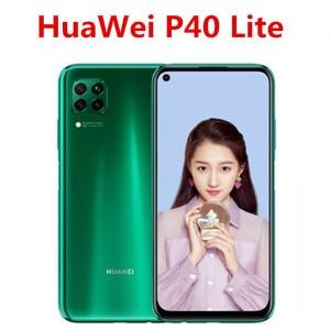 Женский сотовый телефон HuaWei P40 Lite, 6,4 дюйма, 2310x1080, 6 ГБ ОЗУ, 128 Гб ПЗУ, 48 МП, Восьмиядерный процессор Kirin 810, сканер отпечатка пальца, Android 10,0