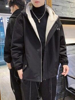 Denim Hooded Windbreaker for Mens Winter Parka with Fur Hood Summit Series Giacca Uomo Inverno Erkek Giyim New 2019 GG50dy