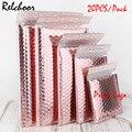 20 см, алюминиевая пленка цвета розового золота, пузырчатая сумка, водонепроницаемые сумки для одежды, конверты, экспресс-сумки, индивидуаль...