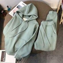 Nova camisola com capuz terno feminino esportes e lazer calças de duas peças 2021 primavera nova net celebridade moda venda quente