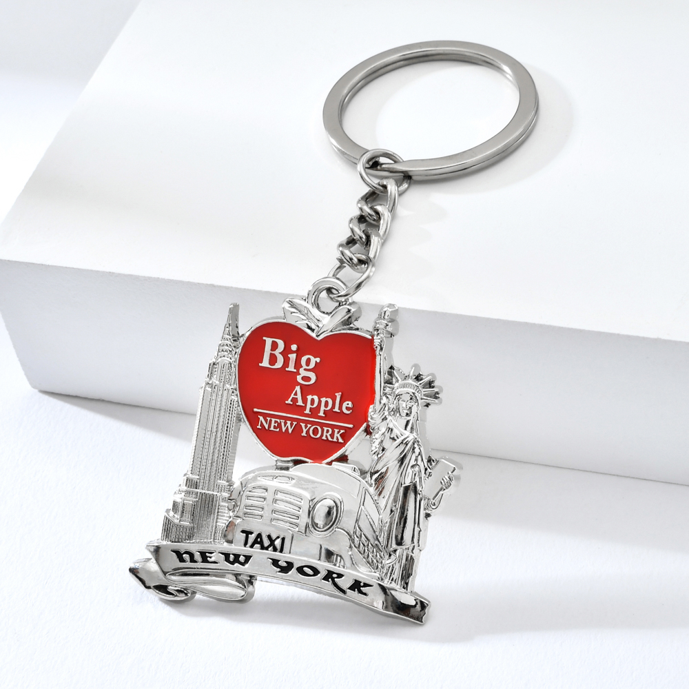 Vicney New Arrival Big Apple New York Keychain Zinc Alloy Empire State Building The Statue Of Liberty New York Taxi Key Chain