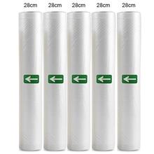 Household Food Vacuum Packing Bag For Vacuum Sealer Vacuum Storage bags Food Fresh Long Keeping 12/15/20/25/28cm*500cm 5 Roll
