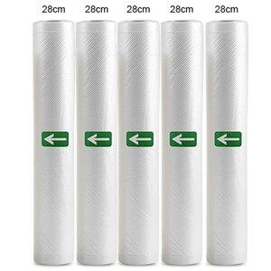 Image 1 - Torba do pakowania próżniowego żywności gospodarstwa domowego dla uszczelniacz próżniowy próżniowe torebki do przechowywania żywności świeże długie utrzymanie 12/15/20/25/28cm * 500cm 5 rolka