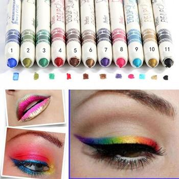 12 Pcs Colorful Eye Shadow Eyeliner Pencil Waterproof Eyes Lip Stick Eyebrow Lipliner Long Lasting Eyes Liner Maquiagem Hot Sale