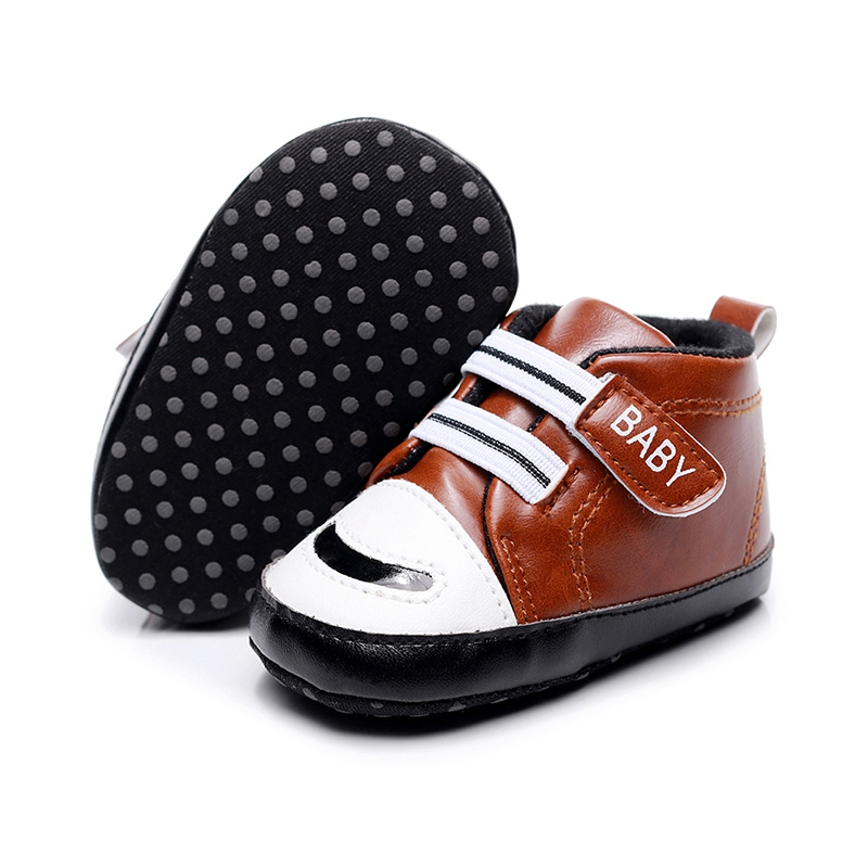 Baby Shoes Newborn Baby Girl Boys Causal Bow Anti-slip Shoes Plaid Patchwork Soft Sole Sneakers Prewalker 0-18M