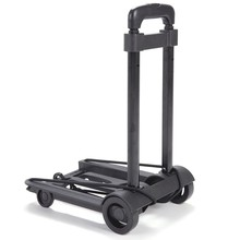 Folding Luggage Cart Portable Trolley Travel Trunk Trailer Trolley Light Hand Cart Adjustable Home Travel Shopping Cart(China)