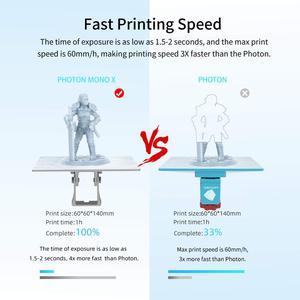 Image 3 - ANYCUBIC 3D Máy In Photon Đơn X Tia UV CD Nhựa Máy In 4K Màn Hình Đơn Sắc, ứng Dụng Điều Khiển Từ Xa, In Hình Kích Thước 192*120*250 Mm