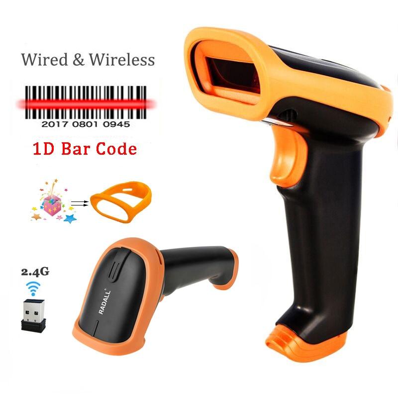 Leitor de Código de Barras CCD Scanner de código de Barras sem fio 2.4G handheld Wireless/Wired Scanner Para POS e Inventário S6