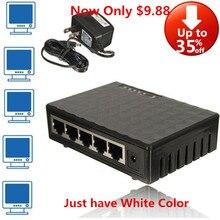 Гигабитный коммутатор 5 портов Ethernet Мини 1000 Мбит/с Настольный сетевой переключатель RJ45 концентратор, смарт, подключи и играй, простая настройка