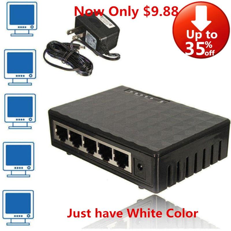 Gigabit Switch 5 Porte Switch Ethernet Mini 1000Mbps di Rete Del Desktop Interruttore RJ45 Hub, Intelligente, plug and Play, di Facile Installazione