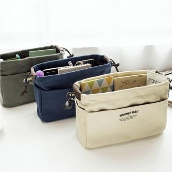 Canvas Purse Organizer Bag Organizer Insert with Compartments Makeup Organizer Handbag organizador trousse maquillage femme 6