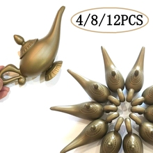4/8/12 PCS Plastic Arabian Elf Light Fancy Props Christmas Easter Home Decorations Lamp Cosplay Party Supplies Vintage Retro Toy