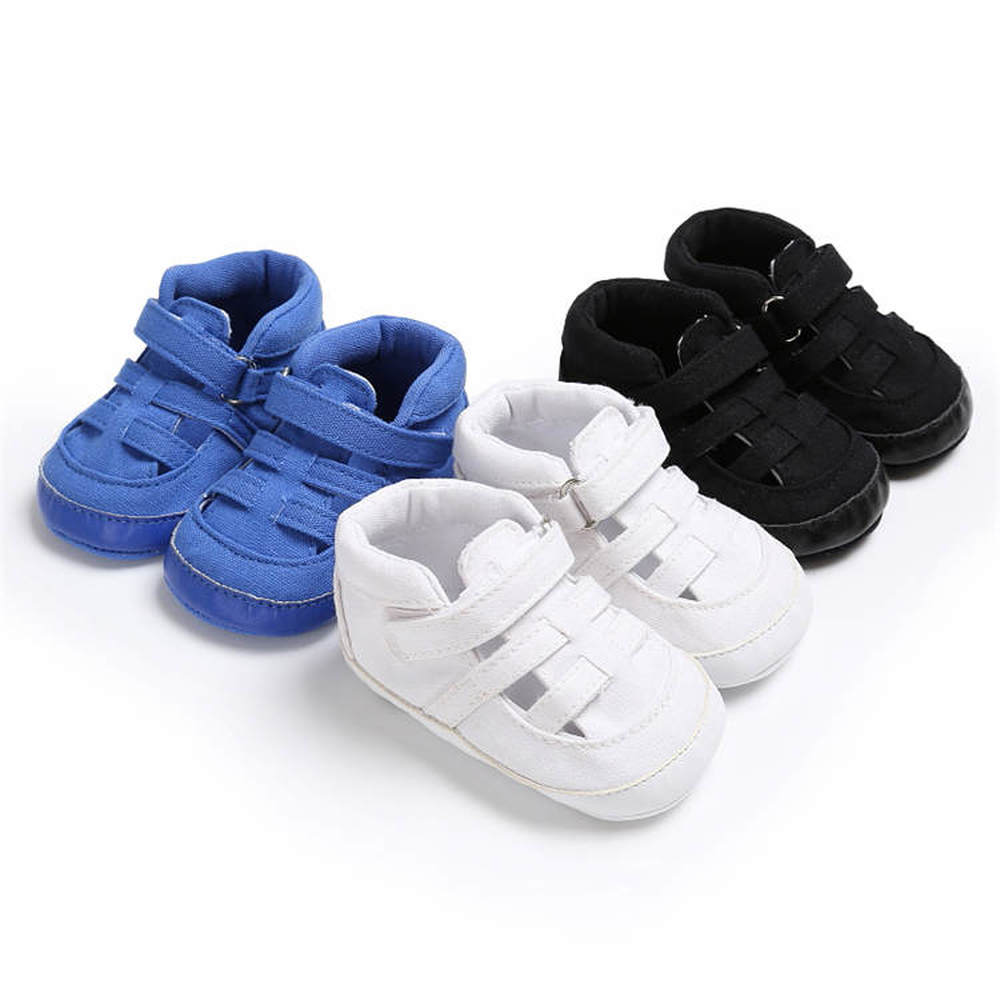Baby Boy Shoes Sneaker Canvas Soft Love Shape Sole Breathable Solid Hook&Loop Prewalkers Toddler Infant Casual Crib Shoes Girl