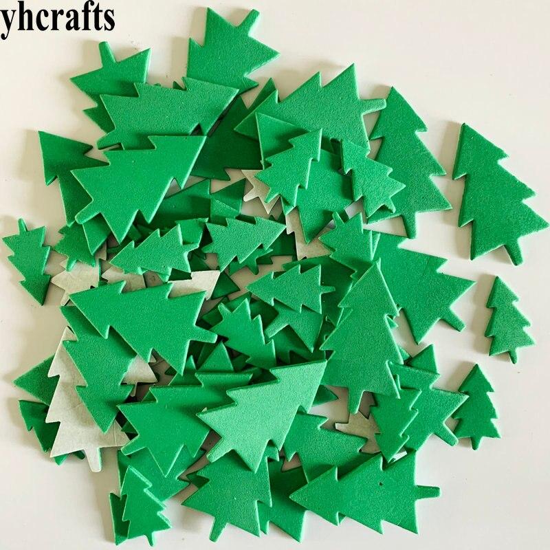 1 пакетов/лот, снежинка, рождественские наклейки из пены для раннего обучения, Обучающие поделки, diy игрушки, детская комната, орнамент, цветная обучающая креативная OEM - Цвет: 40PCS xmas tree